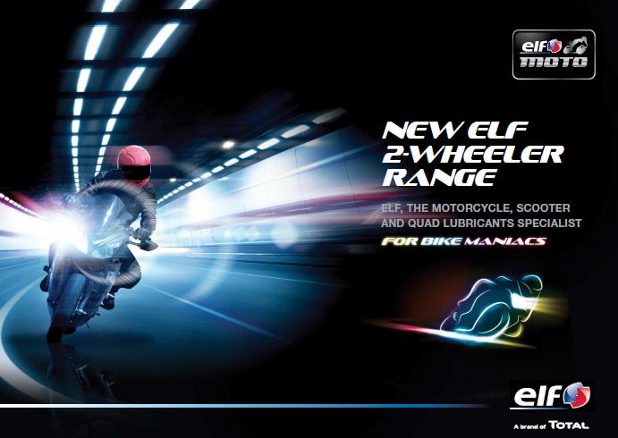 Catálogo de produtos ELF para motociclismo